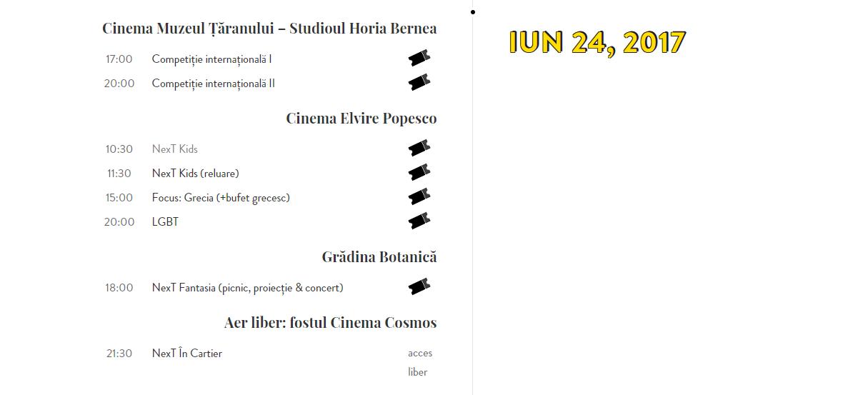 Programul zilei de 24 iunie 2017